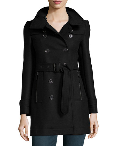 Daylesmoore Wool-Blend Zip-Pocket Trench Coat