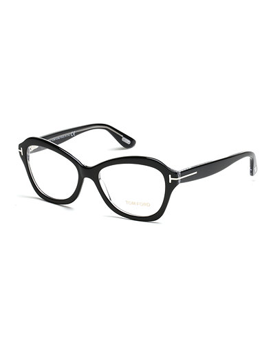 Squared Cat-Eye Fashion Glasses