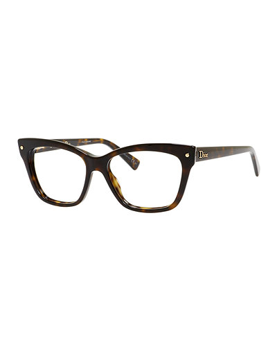 Are Plastic Eyeglass Frames In Style : Dior Square Plastic Fashion Glasses