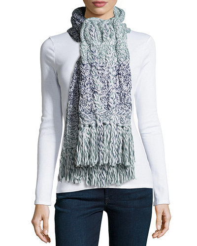 UGG Grand Meadow Cable Fringe Scarf