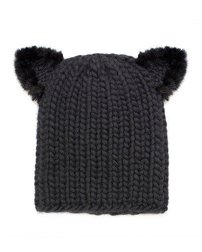 Eugenia Kim Felix Fur-Trim Cat-Ear Skull Cap