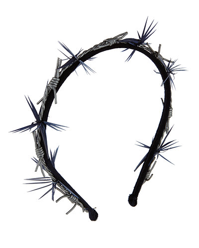 Barbed Wire Velvet Headband