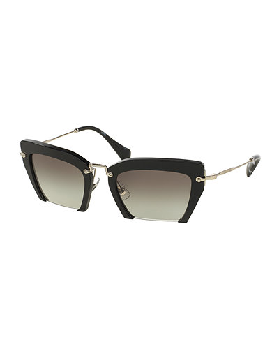 Miu Miu Cut-Off Cat-Eye Sunglasses