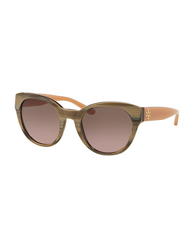 Tory Burch Marble-Arm Universal-Fit Sunglasses