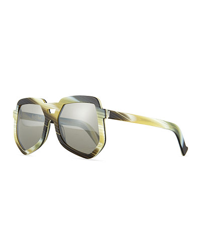 Grey Ant Clip Large Aviator Sunglasses