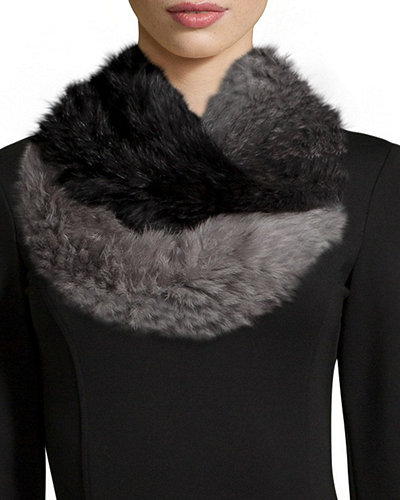 Rabbit Fur Degrade Scarf