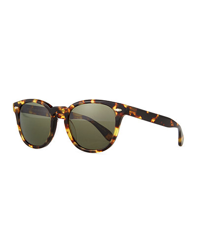 Oliver Peoples Sheldrake Plus Square Plastic Sunglasses