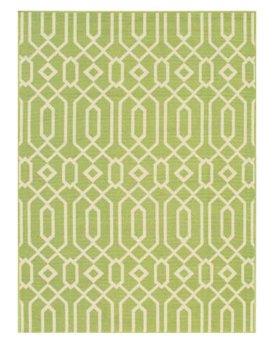"Geometric Twist Indoor/Outdoor Rug, 6'7"" x 9'6"""