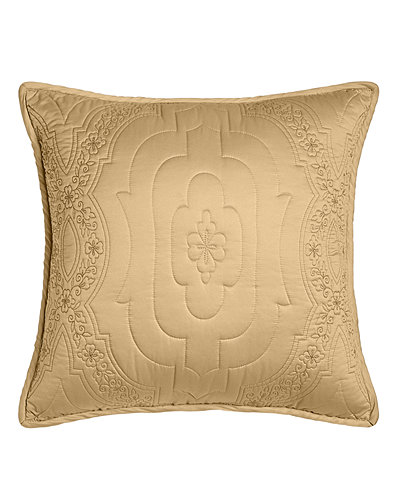 "Giselle Quilted Pillow, 18""Sq."
