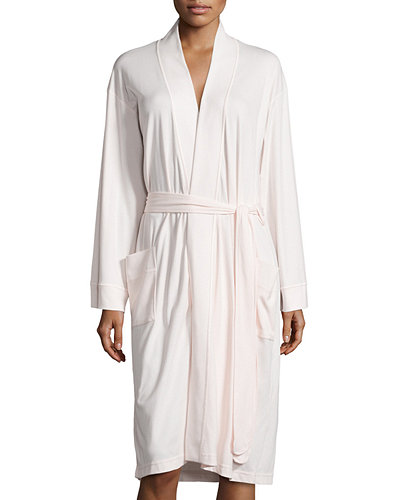 P. Jamas Butterknit Short Wrap Robe