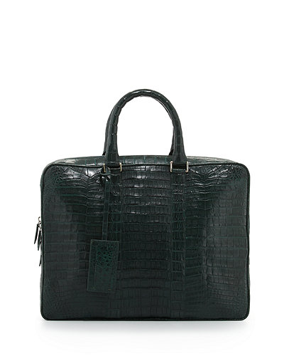 Santiago GonzalezCrocodile Compartment Skinny Briefcase