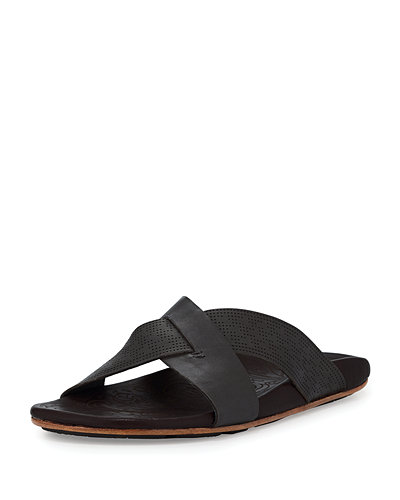 Olukai Punono Slide-On Sandal, Gray/Brown