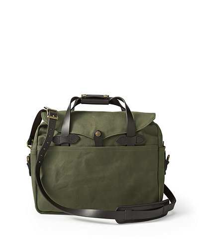 Cotton Twill Briefcase Computer Bag