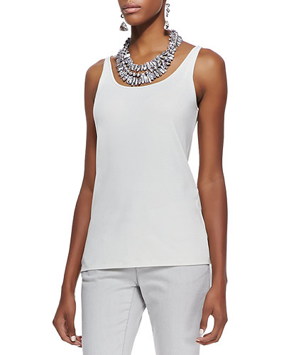 Eileen FisherSilk Jersey Long Slim Camisole, Plus Size