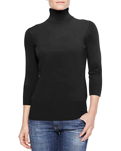 3/4-Sleeve Cashmere Sweater