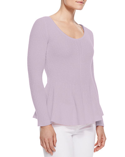 Cashmere Peplum Sweater, Women's