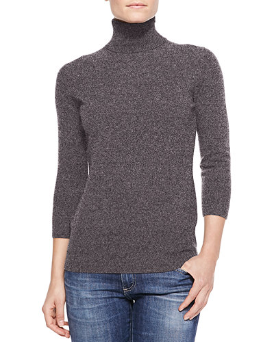 Cashmere 3/4-Sleeve Sweater, Women's