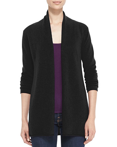 Draped Open-Front Cashmere Cardigan, Women's