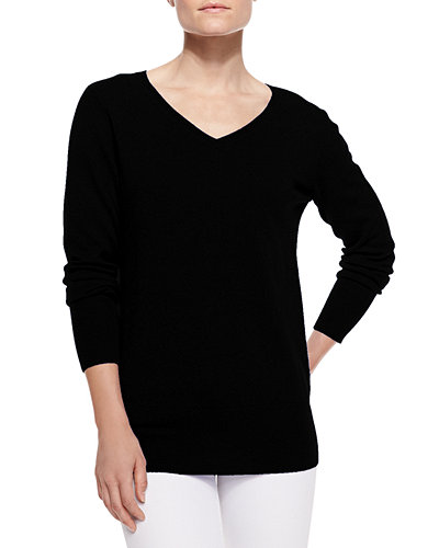 Oversized V-Neck Sweater, Women's