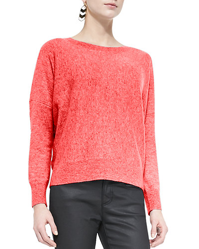 Long-Sleeve Cashmere Box Top