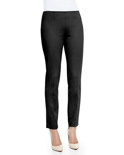 Theory Belisa Slim Cropped Twill Pants