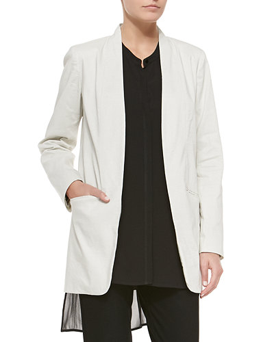 Eileen Fisher Long Polished Ramie Jacket