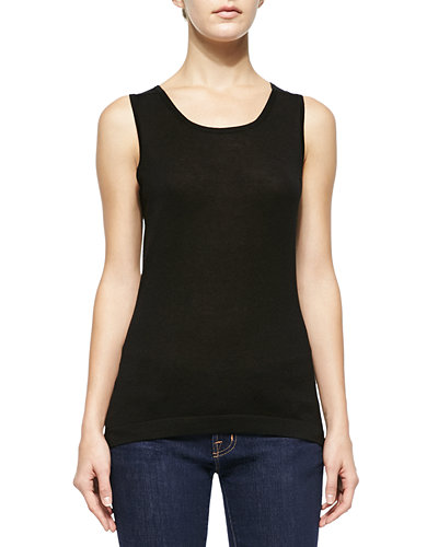 Superfine Silk-Blend Tank