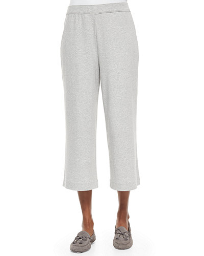 Cropped Cotton Interlock Pants