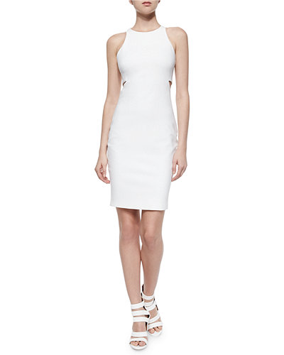 Elizabeth and James Lela Ponte Racerback Cutout Sheath