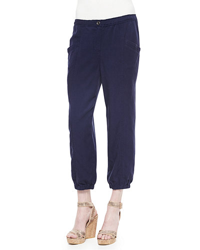 Eileen Fisher Lightweight Tapered Twill Pants
