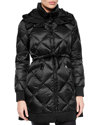 Moncler Verrerie Quilted Hooded Puffer Coat
