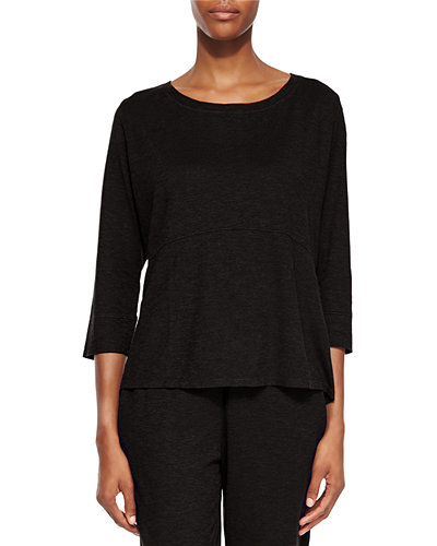 3/4-Sleeve Hemp Twist Top, Women
