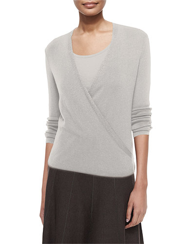 4-Way Lightweight Cardigan, Silver Cloud, Petite