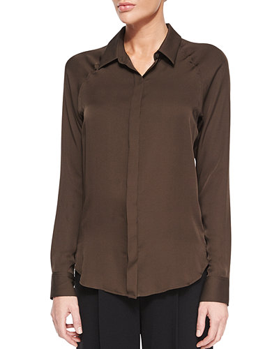 Theory Lanali Modern Long-Sleeve Top