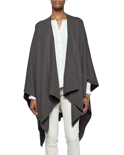 Eileen Fisher Cozy Luxe Wool Poncho Cardigan