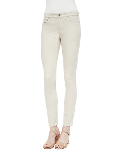 Eileen Fisher Sueded Organic-Stretch Sateen Jeans, Petite