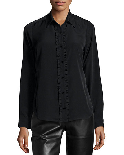 NYDJ Fit Solution Ruffle Blouse