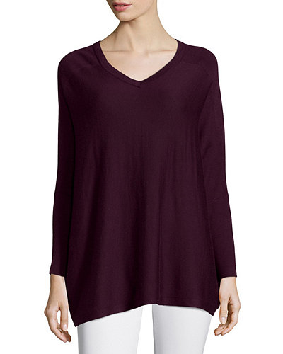 Silk/Cashmere V Neck Sweater
