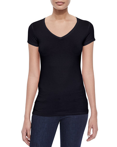 Soft Touch Short-Sleeve V-Neck Tee