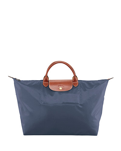 Le Pliage Large Monogram Travel Tote Bag