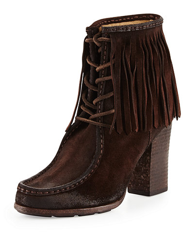 Parker Fringe Lace-Up Ankle Boot