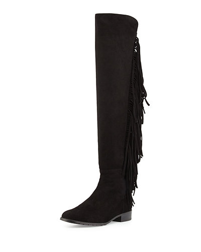 Mane Fringe Over-the-Knee Suede Boot