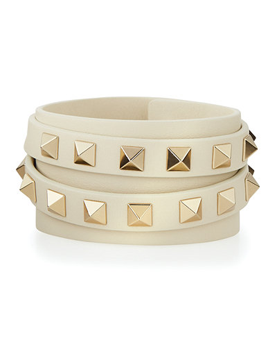 Valentino Multi-Wrap Rockstud Leather Bracelet