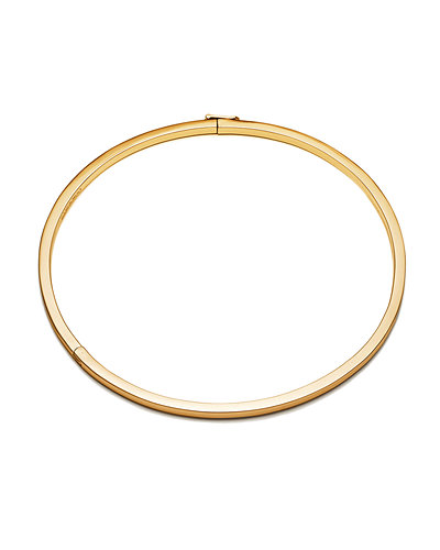 Eddie Borgo Cuboid Plated Brass Collar Necklace