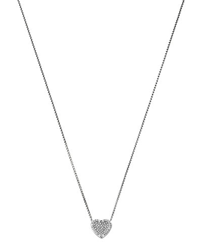 Michael Kors MK Logo Heart Pendant Necklace