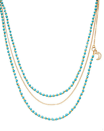 Biography Beaded Charm Necklace