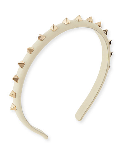 Valentino Rockstud Leather Headband