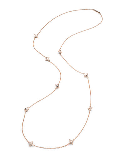 Eddie Borgo Crystal Cone Station Long Necklace