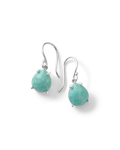 Silver Rock Candy Pear Drop Earrings