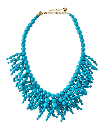 fringe appeal beaded necklace
